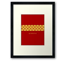 Gryffindor Quidditch.  Framed Print