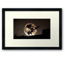 SKELETON MOON Framed Print