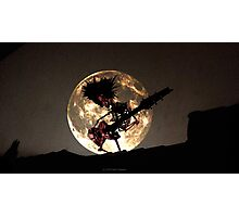 SKELETON MOON Photographic Print