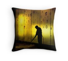 Street Cleaner Throw Pillow