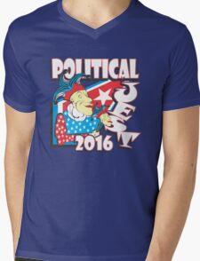 POLITICAL JEST Mens V-Neck T-Shirt