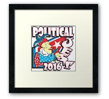 POLITICAL JEST Framed Print
