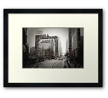 Broadway and 33rd Street Framed Print