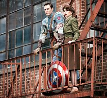 Tanya Wheelock as Peggy Carter and Michael Mulligan as Captain America (3.1 - Photography by Sean William / Dragon Ink Photography) by mostdecentthing