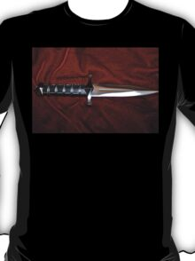 Fantasy Knife on Red Velvet T-Shirt