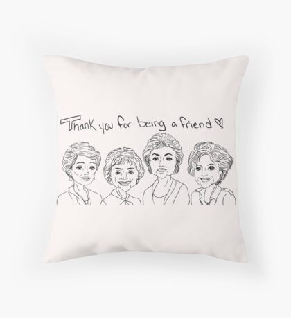 Golden Girls Throw Pillow