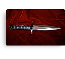 Fantasy Knife on Red Velvet  Canvas Print