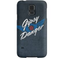 Gipsy Danger - white text Samsung Galaxy Case/Skin