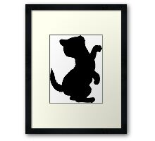 Adorable Kitten Cat Silhouette, Cute Cats Framed Print