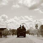 Firetruck in Annual Parade ~Small Town America VII by Rachel Sonnenschein