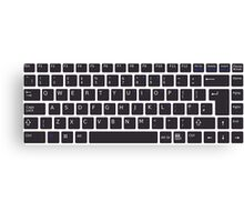 PC Computer Keyboard Buttons Design Canvas Print