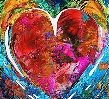 Colorful Heart Art - Everlasting - By Sharon Cummings by Sharon Cummings