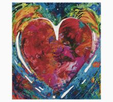 Colorful Heart Art - Everlasting - By Sharon Cummings One Piece - Short Sleeve