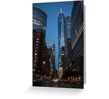 World Financial Center: One World Trade Center Greeting Card