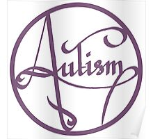 Autism is simply beautiful - Purple Poster