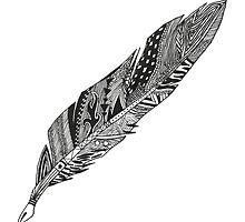 Feather - Zentangle by Emma Anderson