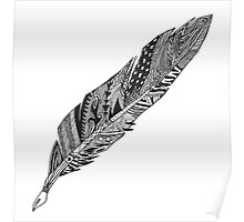 Feather - Zentangle Poster