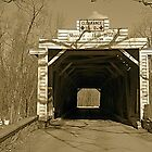 Old Sheeder-Hall Covered Bridge by Monte Morton