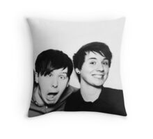 Black and White// Dan And Phil!!! Throw Pillow