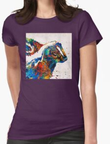 Colorful Skunk Art - Dee Stinktive - By Sharon Cummings Womens Fitted T-Shirt