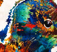 Colorful Skunk Art - Dee Stinktive - By Sharon Cummings Sticker