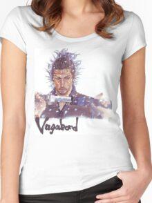 Miyamoto Musashi - Vagabond - Raw Women's Fitted Scoop T-Shirt