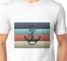 Nautical Anchor Textured Flag Unisex T-Shirt