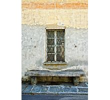Window and bench Photographic Print