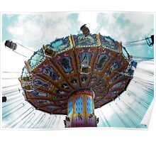 Vintage chairoplane... Poster