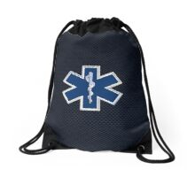 Paramedic Star of Life Drawstring Bag