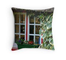 Cottage window  Throw Pillow