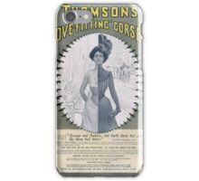 Victorian Corset Ad from 1900 iPhone Case/Skin