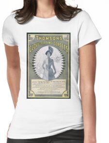 Victorian Corset Ad from 1900 Womens Fitted T-Shirt