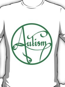 Autism is simply beautiful - Green T-Shirt