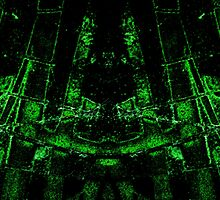 green ruin abstract mirroring something by Altimetry
