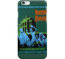 Haunted Mansion Attraction Poster iPhone Case/Skin