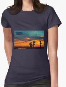 Golden Sunset Womens Fitted T-Shirt