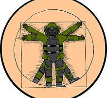 Vitruvian Bulldozer by Itchytoenail