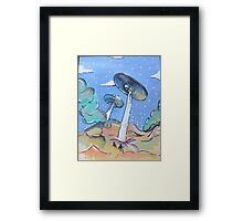 Double UFO's Framed Print