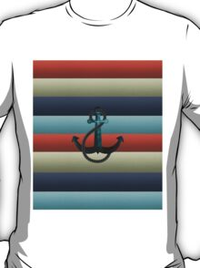 Nautical Anchor Background T-Shirt