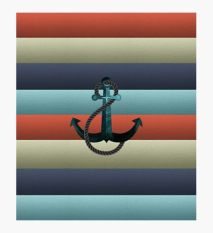 Nautical Anchor Background Photographic Print