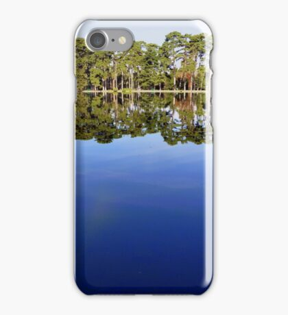 Lake view - sky mirror iPhone Case/Skin
