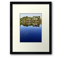 Lake view - sky mirror Framed Print