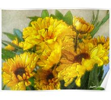 Yellow Chrysanthemums 3 Poster