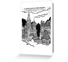 Cathedrals as Landscape Greeting Card