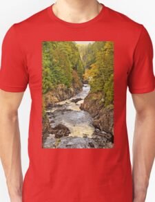 Waterfall - Fort Colunge, Quebec Unisex T-Shirt