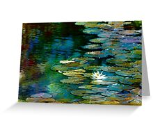Dreamy Lily Pond Greeting Card