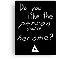 Bastille - Weight of Living pt. II (2) - Do You Like The Person You've Become? Canvas Print