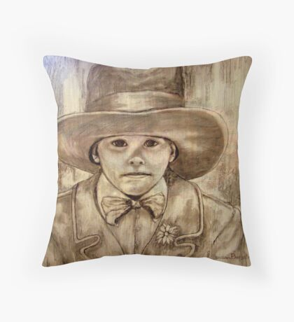 My Daddy's Hat Throw Pillow
