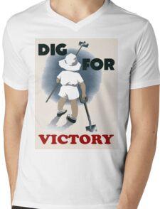 Dig For Victory T Shirt Mens V-Neck T-Shirt
